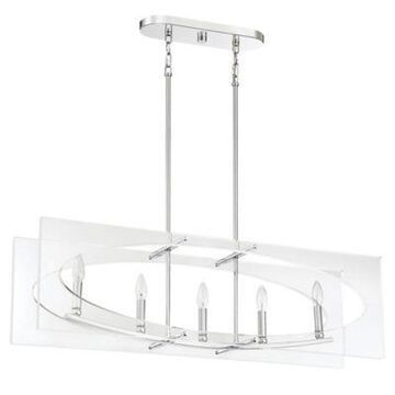Quoizel Midpoint 5-Light Island Chandelier in Polished Chrome