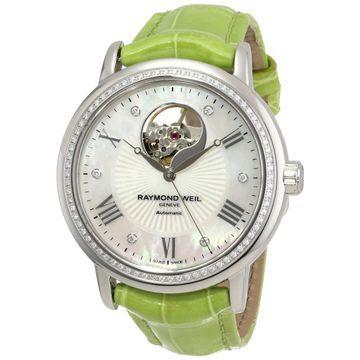 Raymond Weil Women's 'Maestro' Green Automatic Luxury Watch