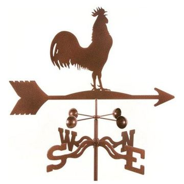 EZ Vane Rooster Bird Weathervane With Post Mount