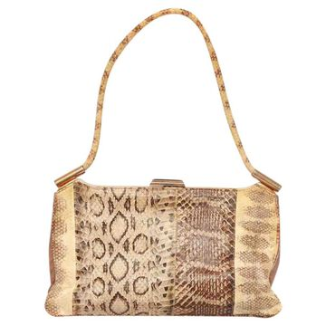 Vintage Emanuel Ungaro Beige Leather Handbag