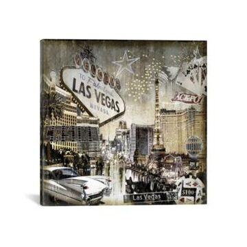 """iCanvas Las Vegas by Dylan Matthews Wrapped Canvas Print - 18"""" x 18"""""""