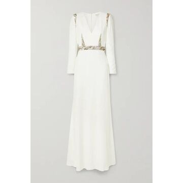 Alexander McQueen - Embellished Crepe Gown - Ivory