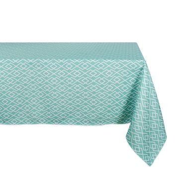 Design Imports Diamond Outdoor Tablecloth