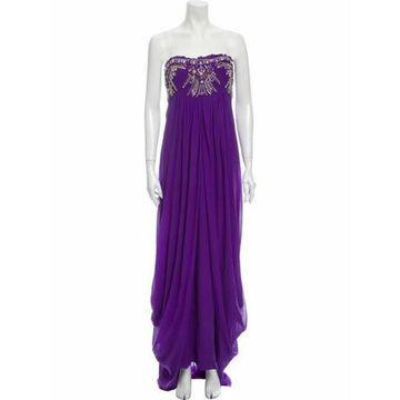 Silk Long Dress Purple