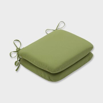 2pk Colefax Pesto Rounded Corners Outdoor Seat Cushions Green - Pillow Perfect