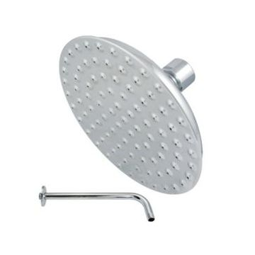 Kingston Brass Victorian Showerhead With Shower Arm in Polished Chrome Bedding