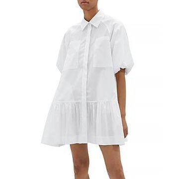 Jonathan Simkhai Standard Crissy Cotton Puff Sleeve Mini Dress