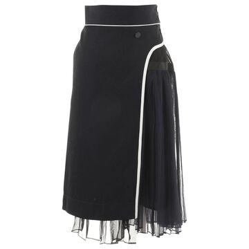 Sacai Blue Cotton Skirts