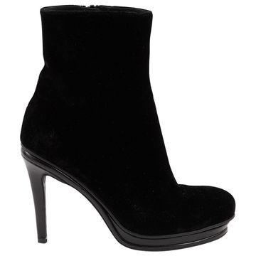 A.f.vandevorst Black Velvet Boots