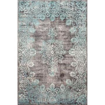 nuLoom Norbul Vintage-Inspired Floral Lacy Teal 8' x 10' Area Rug