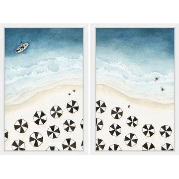 Marmont Hill Black Umbrellas Diptych by Dantell, 30