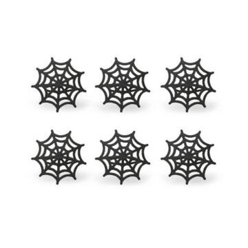 Design Imports Spider Web Napkin Ring, Set of 6