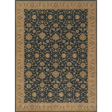 STANST-08DEBE2030 2 x 3 ft. Traditional Stanley Collection Hand Knotted Rugs - Denim & Beige
