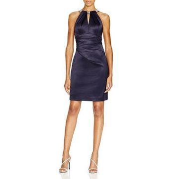 Eliza J Womens Satin Keyhole Party Dress