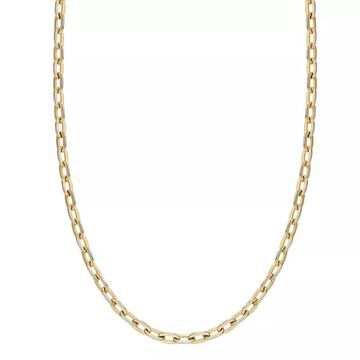 """Men's LYNX Stainless Steel Chain Necklace, Size: 20"""", Yellow"""