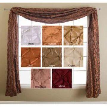 Softline Zanzibar 6-yard Window Scarf - 4' x 18'