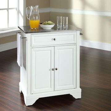 Crosley Lafayette Stainless-Steel Top Portable Kitchen Island/Cart, KF30022BBK