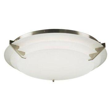 PLC Lighting 1546 Palladium Flush Mount Ceiling Fixture, Satin Nickel