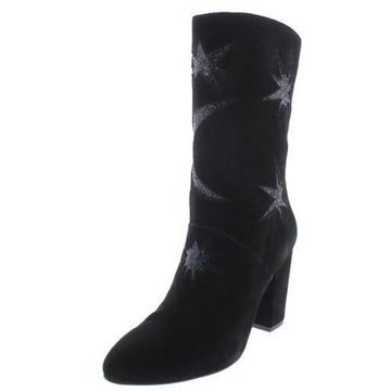 Avec Les Filles Women's Nikita Suede Embellished Chucky Heel Ankle Bootie