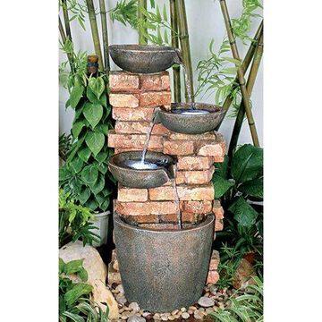 Design Toscano Stacked Bricks Cascading Garden Fountain