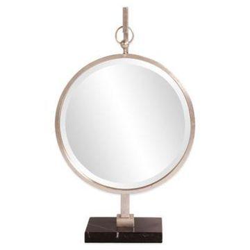 Howard Elliott 18-Inch x 30-Inch Medallion Silver Mirror