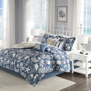 Home Essence Bedford 7 Piece Cotton Sateen Comforter Set