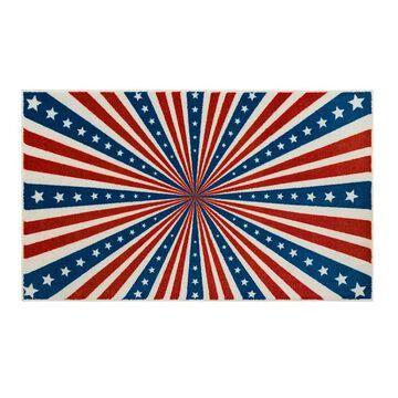 Mohawk Home Prismatic American Stripes Rug, Blue, 2X3 Ft