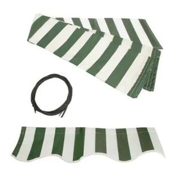 ALEKO Fabric Replacement for 20 x 10 Feet Retractable Awning (Green/White)