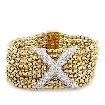 David Yurman Yellow Gold Diamond Pave