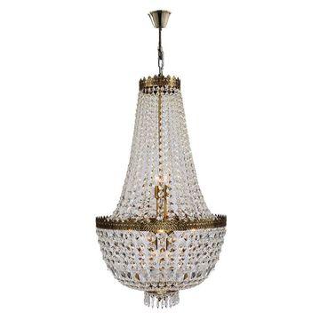 Worldwide Lighting Metropolitan 8-Light Antique Bronze Traditional Crystal Draped Chandelier