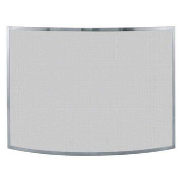 Uniflame SINGLE PANEL CURVED PEWTER SCREEN
