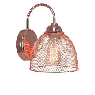 Plexus 1 Light Wall Sconce In Copper Finish W/ Amber Antique Bulb (1812-CP-AT18)