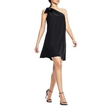 Aidan Mattox Trapeze One Shoulder Cocktail Dress