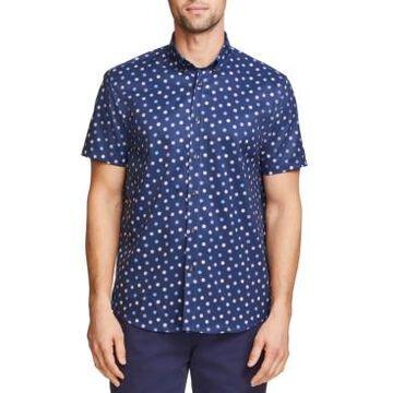 Tallia Men's Slim Fit Performance Stretch Short Sleeve Button Down Shirt