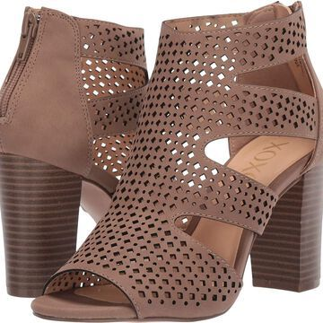Xoxo Womens Beamer Suede Peep Toe Casual Ankle Strap Sandals