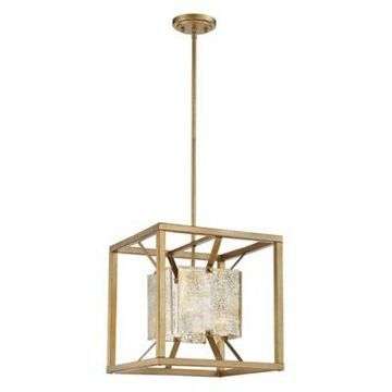 Filament Design Antique 15-Inch 1-Light Pendant in Gold