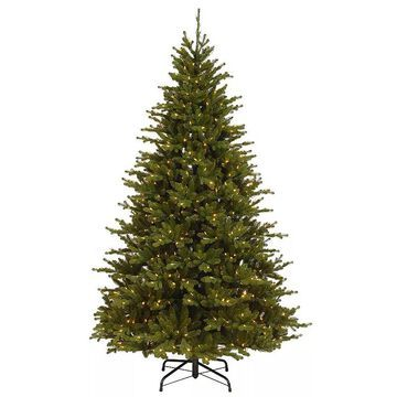 National Tree Company 7.5' Neshanic Valley Spruce Tree with Dual Color LED Lights, Green
