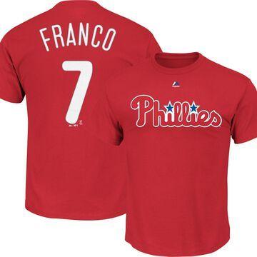 Majestic Men's Philadelphia Phillies Maikel Franco #7 Red T-Shirt
