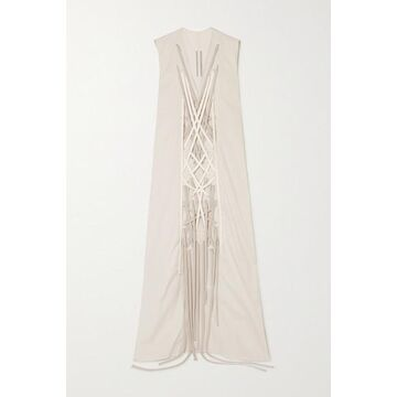 Rick Owens - Abito Lace-up Cotton-blend Gown - Taupe