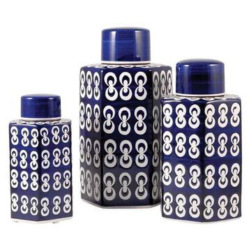 Pomeroy Cupola, Set of 3, Jars, Dark Navy