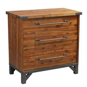 INK+IVY Lancaster 3-Drawer Dresser in Amber