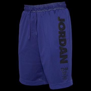 Jordan Retro 11 Mesh Shorts - Black / Purple