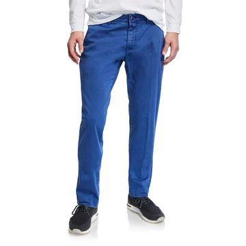 Men's Bobby Stretch Cotton Pants, Blue