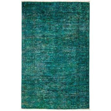 Solo Rugs One-of-a-kind Vibrance Hand-knotted Area Rug 4' x 6'