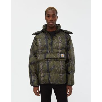 Jones Pullover Coat in Green Camo Tree