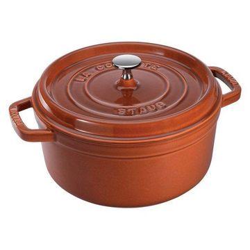 Staub Cast Iron 2.75 qt. Round Cocotte, Burnt Orange