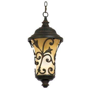 Kalco Enchantment Antique Copper Outdoor Hanging Lighting