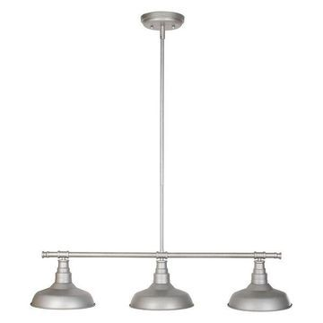 Design House 520379 Kimball 3 Light Dimmable Pendant in Galvanized Fin