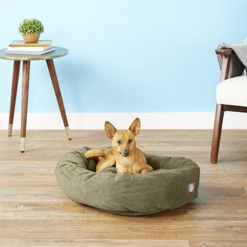 Majestic Pet Suede Bagel Dog Bed