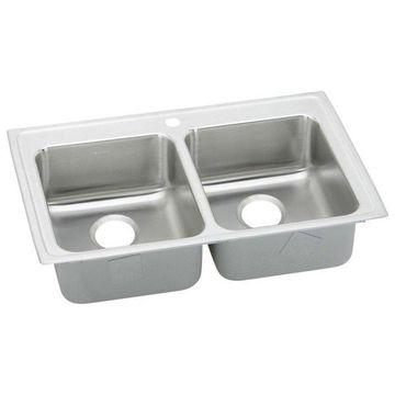 Elkay Gourmet Stainless Steel Double Bowl Sink